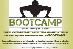 Bootcamp Any Fitness in juni/juli